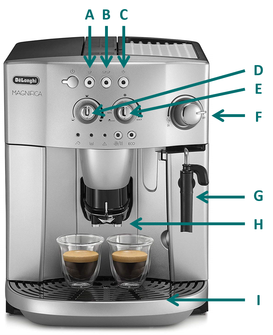 image of the Magnifica De'Longhi coffee maker