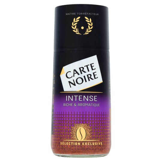 Carte Norise jar of instant coffee granuals