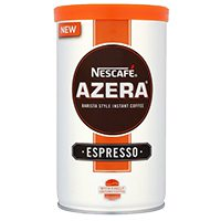 Jar of Nescafe espresso on supermarket shelf