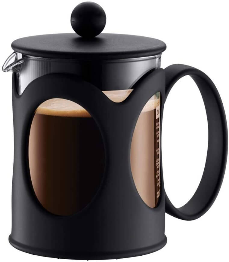 Picture showing the black French Press from Bodum.