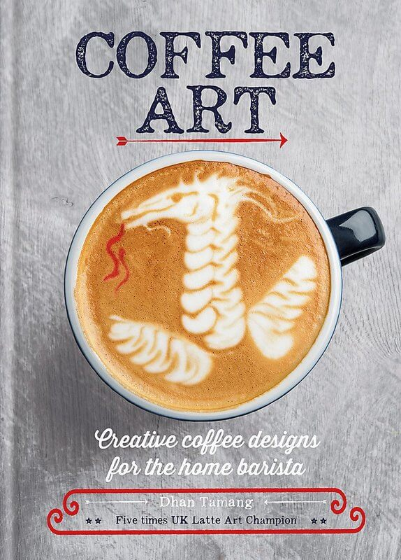 Photo of the coffee art book cover.