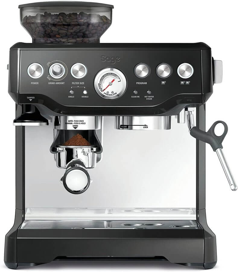 Photo of the Barista Express coffee machine from Sage.