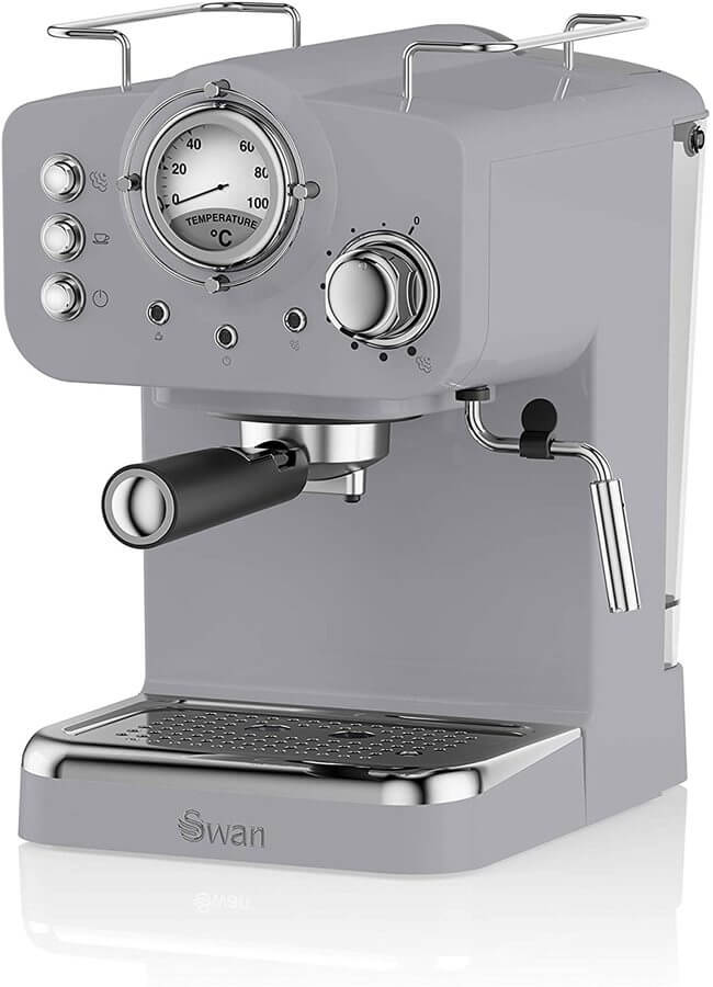 Picture of the Swan espresso machine in grey.