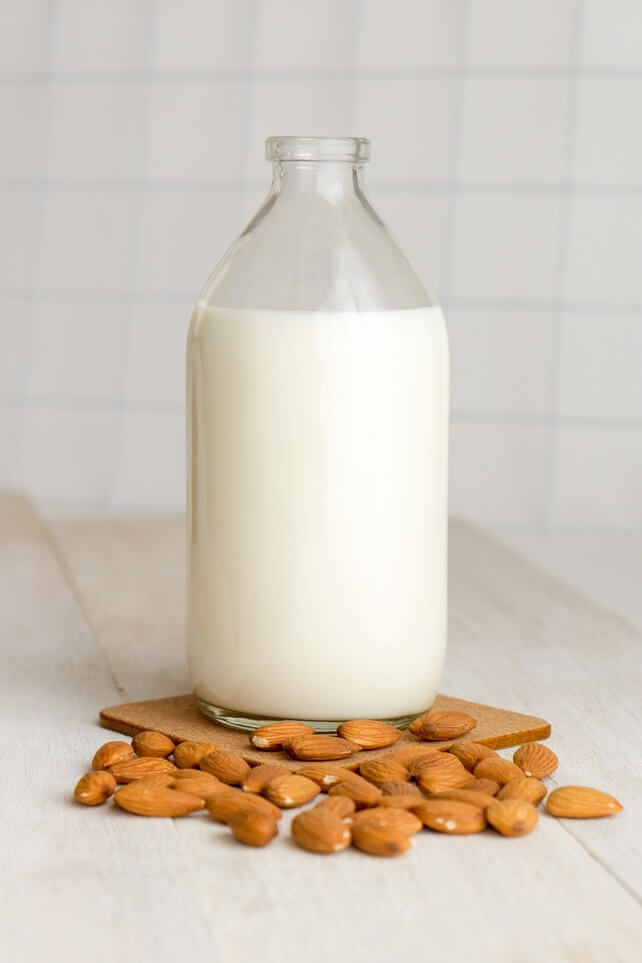 Picture of almond milk.