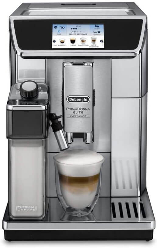 Picture of super-automatic coffee maker.