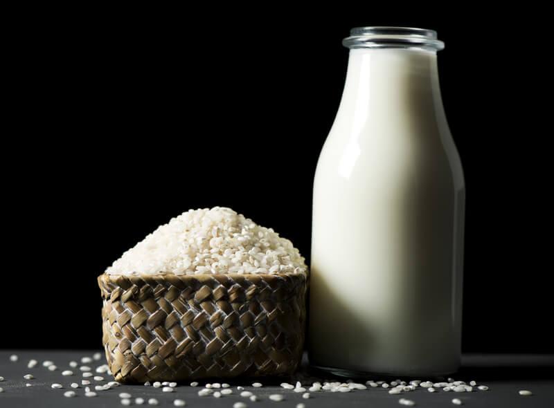 Photo of rice milk.